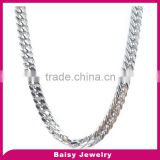 china products prices Men's stainless steel gold cuban chain necklace jewelry