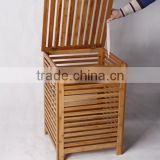 Home bamboo laundry storage box furniture laundry basket
