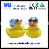 INquiry about weighted floating aquat rubber duck with swim cap goggles