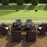 Wicker Rattan Dining Set Furniture - PE Rattan Dining Room Furniture - Outdoor Dining set