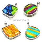 925 Sterling Silver pendant Dichroic Glass jewelry lots wholesale