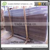 Brown coffee wood grain marble for table top, kitchen top                                                                         Quality Choice