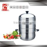 Stainless steel high quality gas food steamer on sale