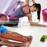 Custom elastic resistance sport exercise yoga stretch strap band belt                                                                         Quality Choice