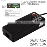 li-ion battery charger electric bicycle/scooter/tricycle/wheel chair battery charger 29.4V 3A