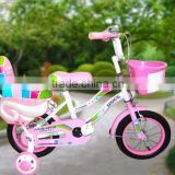 12inch children bicycle with training wheel with rear carrier kids bike