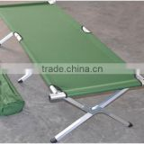 Folding aluminum stretcher military fold up camping bed army cot