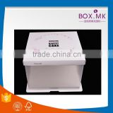 Chinese Hot Sell Beautiful Luxury Lastest Birthday White Cube PVC Window Cake And Cup Cake Boxes