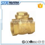 "ART.4007 1/2"" 1 1/4"" 3/4"" 2"" One Way Non Return Horizontal NPT/BSP Female Threaded Inline Brass Swing Check Valve Made in china"