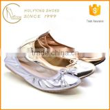 summer latest shoe knot design women comfort flat ballet shoes