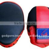 Durable Hand Crafted Eva Foam Padding Standard Red and Black Artificial Leather and Cool Mesh Kick Boxing Focus Mitts