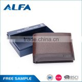 Alfa New Famous Designer Manufacturing Company New Famous Designer Men Genuine Leather Money Clip Wallets