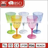 2016 hot sale wholesale AS/PS material clear drink/beer/water disposable plastic juice cup