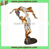 bronze dancing man and woman statues for sale