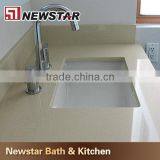 Chinese A quality polished beige quartz countertops