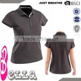 black collar tshirt badminton wear blank kids shirt 2013