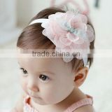 F10001N Baby headband lace flower hair band wholesale beautiful baby girls hair accessory