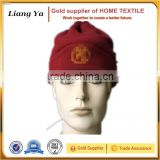 men folded-up polyester polar fleece winter beanie hat wholesale