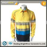 Wholesale high performance Australia man T/C hi vis reflective segmented 3M tape safety polo shirt