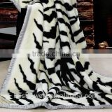 super soft and printed crochet knit baby raschel blanket