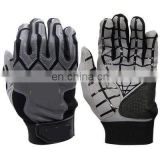 Silicone palm non-slip super stronger fabric batting baseball softball gloves
