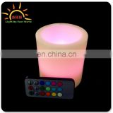 "3 Pack (4"", 5"", 6"") of Outdoor / Indoor Flameless LED Remote Control Real Wax Candles with Remote"