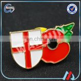 Made In China Pretty Poppy Lapel Badge