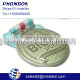 hot sale wholesale factory price metal souvenir commemorative ribbon badge