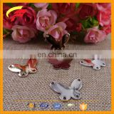 zinc alloy butterfly animal shape decorative buckle for sewing on garment