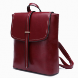 Fashion wax vintage backpack leather women's bag