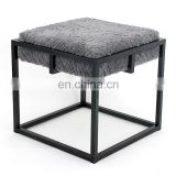 Customized New design living room modern luxury steel metal frame chair seat with cushion