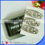 Nickel plated custom logo metal paper clip                                                                                                         Supplier's Choice