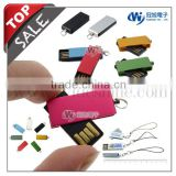 mini usb Swivel Flash drive with advertising keychain promotion usb flash drive for new products 2014