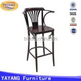 metal used heavy-duty cheap dining high bar restaurant tables and chairs for sale with arm