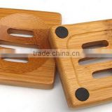 7CM square bamboo soap dish, soap tray, small soap tray