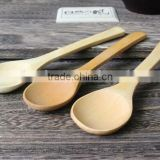 Flatware eco-friendly round wood cooking sugar spoon