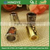 gold stopper cord metal end clothing cord end