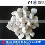Tumbled snow white pebble stone for landscaping and garden decoration                                                                                                         Supplier's Choice