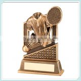 Wholesale gold resin badminton trophy