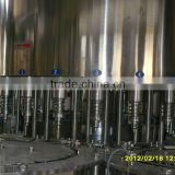 Automatic liner bottle filling and cap sealing machine for glass bottles