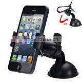 Universal 360 Degree Car Windshield Mount Cell Mobile Phone Holder Bracket Stands Dual Clip