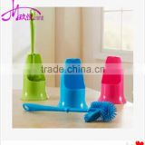 Bathroom Double-sided strong decontamination toilet brush with long holder