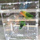 SGS certification clear acrylic bird feeder pets feeder small animal feeder