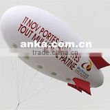 Self inflating white helium airship inflatable balloon for event