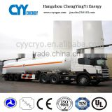 Tri-axle transport cryogenic liquid oxygen nitrogen argon co2 lng tank truck semi-trailer