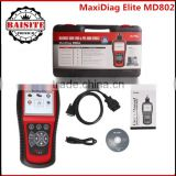 Factory price!!!Autel MaxiDiag Elite MD802 For 4 System +DS model Engine Transmission ABS Airbag md 802