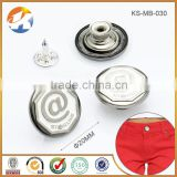 Zinc Alloy Remove Custom Metal Jacket Buttons                                                                         Quality Choice