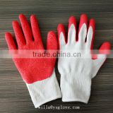 Wholesale latex coated cotton work gloves with crinkle from Shandong                                                                                                         Supplier's Choice