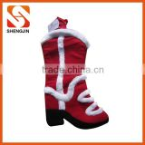 2016 Special design fleece and plush christmas stocking