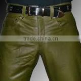 leather motorcycle pants/promotional hot sale superior leather black pants/New Model Casual High Quality Custom leather pants